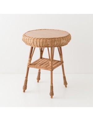 Table en osier Laszlo ronde MM