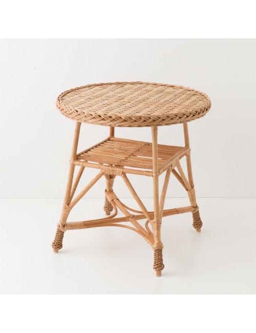 Table en osier Mélina dessus tressé