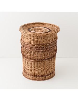 Panier à linge feston brun diamètre 54