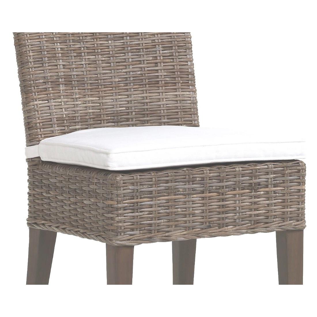 Coussin seul pour chaise en rotin et loom jos phine - Coussins ronds pour chaises ...